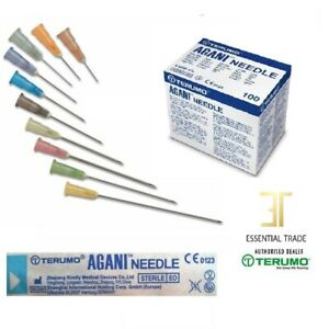 Terumo Agani Needles Sterile no syringes Hypodermic all sizes 18G-30G UK Seller