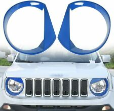 Front Light Cover Angry Bird Headlight Bezels Trim For Jeep Renegade15-17 Black