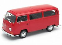 VW Volkswagen Bus T2 - 1972 - red - WELLY 1:24