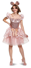 Rose Gold Womens Adult Disney Minnie Mouse Deluxe Costume