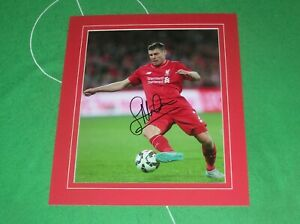 James Milner Signed & Mounted Liverpool FC Action Photograph