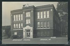 IA Keokuk RPPC 1940's GARFIELD SCHOOL & CAR No. N-252