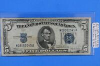 FR-1653 Series1934-C $5.00 Silver Cert. Note Blue Seal