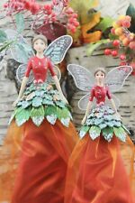 GISELA GRAHAM CHRISTMAS WOODLAND FRUITS OF THE FOREST FAIRY ANGEL TREE TOPPER