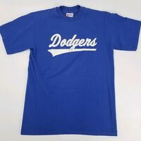 Vtg Dodgers Mens Sz Medium Single Stitch Short Sleeve T Shirt Blue Eagle USA