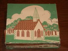 VINTAGE PLASTICVILLE O SCALE TRAIN LAYOUT CHURCH BUILDING in Box CC-8G