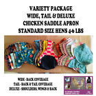VARIETY PACK BANTAM Chicken Saddle Apron Hen BACK FEATHER PROTECTION POULTRY
