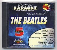 CHARTBUSTER KARAOKE CB-40110 THE BEATLES VOL 5, NEW 6+6 ARTIST SERIES CD+G, OOP
