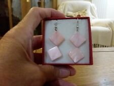 made from real mother of pearl Brand new pale pink coloured earrings