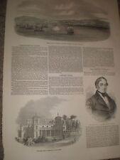 Bombardeo de Catania Sicilia por Nápoles & Dundurn Castillo Hamilton Canadá 1849