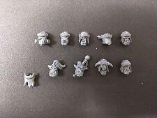 Warhammer 40k Ork Lootas / Burna Boyz x9 Heads Bits