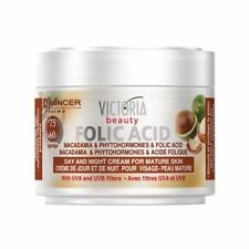 Folic Acid & Macadamia Anti Ageing Day & Night Cream Mature Skin Hyaluronic