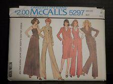 McCalls Blazer Vest Skirt Pants Top Pattern 5297 Vintage 1976 Uncut Misses 8