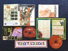 Metal Gear Solid 2 Edicion 2 DVDs + Folleto Truco PlayStation 2 BUEN ESTADO 0096