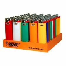 12 Regular full size BIC Cigarette Lighters - Assorted Colors BIG BIC Quality