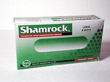 Shamrock Examination Gloves Powder Free Vinyl Large 100 Count per Box, 1 Pack