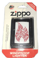 """Zippo Genuine Windproof Lighter """"Red Flame Blister Pack"""" New In Box, MADE IN USA"""
