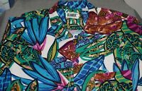NEW ISLANDER Floral Abstract Men's Short Sleeve Shirt Size 2X