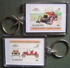1908 FORD Model T Car Stamp Keyring (Auto 100 Automobile)