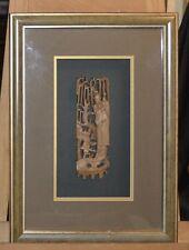 Bas relief encadré sous verre, en bois ,Chine, Dinastie QING