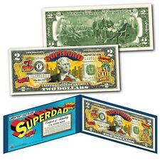 SUPERDAD #1 DAD Greatest Dad Ever #1 Father Hero Genuine Legal Tende $2 US Bill