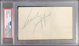 Frank Gifford Signed Index Card NFL Football Autograph NY Giants QB HOF PSA/DNA