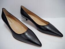 NEW MICHAEL KORS COLLECTION black leather kitten heel pumps size 6.5