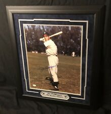 JOE DIMAGGIO SIGNED JSA 16x20 FRAMED PHOTO NEW YORK YANKEES SIGNED AUTOGRAPH