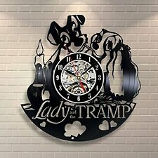 Lady and the Tramp_Exclusive wall clock made of vinyl record_GIFT