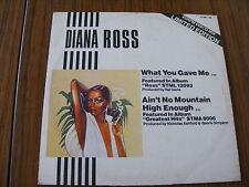 "Diana Ross What You Gave Me 12"" Original 1970 Ltd Edition Vinyl Single Disco Mix"