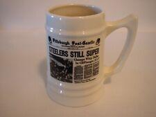 Vintage 1976 Super Bowl X Pittsburgh Steelers Ceramic Beer Stein/Mug