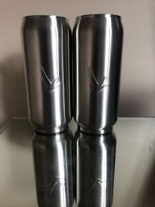 Pair Of New Grey Goose Brushed Steel Soda Can Style  Cup Tumbler Insulated
