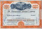 Pennsylvania Railroad Company Stock Certificate Horseshoe Curve Orange