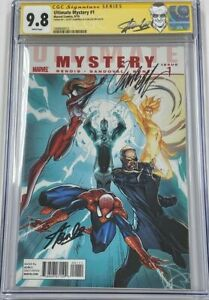 Marvel Ultimate Mystery #1 Spider-Man Signed Stan Lee & Campbell CGC 9.8 SS RARE