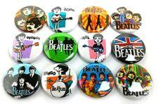 "12 The Beatles 1"" Buttons Pinbacks Pins Pop Badges Liverpool English Rock Set#2"