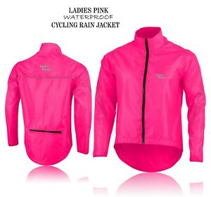 Cycling Jacket Girls Women Ladies Windstopper Hi-Viz Waterproof Bicycle Jacket