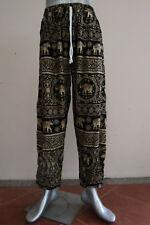 Elephant Pants Hippie Boho Trousers Thin Cotton black E15