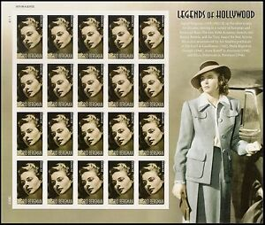 US 5012 Legends of Hollywood Ingrid Bergman forever sheet (20 stamps) MNH 2015