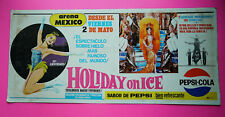 Mexican Mexico vintage lobby card poster HOLIDAY ON ICE Pepsi Cola pin up 1969
