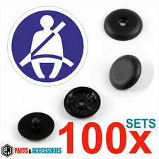 100x Universal Seat Belt Buckle Buttons Holders Studs Retainer Stopper Pin Clip