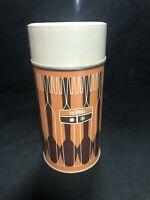 Vintage 1971 King Seeley Thermos Co bottle 7263 Retro Orange Mod Metal Pint Size
