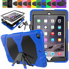 For Apple iPad Mini 123 Silicone Full Case with Screen Protector Stand Gel Cover