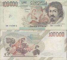 100.000 LIRE CARAVAGGIO 1° TIPO 28/10/1985 BB