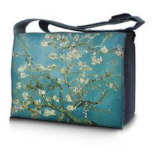"15.6"" 15"" Laptop Notebook Padded Compartment Shoulder Messenger Bag Almond Trees"