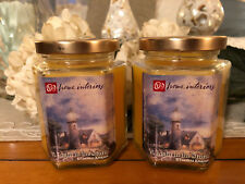 "Home Interiors ""A Light in the Storm"" Vanilla Scented Cij set of 2~Nos~"