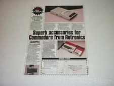 Advertising Sheet ~ 'Superb accessories for Commodore from Rotronics' ~ C64
