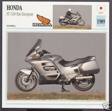 1989 Honda ST 1100cc Pan European (1085cc) Japan Motorcycle Photo Spec Info Card