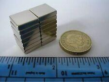 "6 of 1/2"" sq. x 1/8"" Strong Block Magnets NdFeB / Neodymium / Rare Earth square"