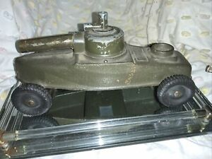RARE Vintage Allstate Big Bang Cast Iron Cannon Motor Toy With Allstate Tires