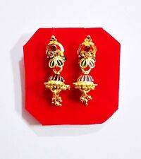 Indian Bridal Gold Plated Earrings Small Jhumki Jhumka Bollywood Fashion Jewelry
